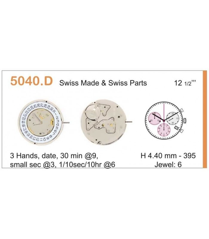 Máquinas ou movimentos para relógio, RONDA 5040D