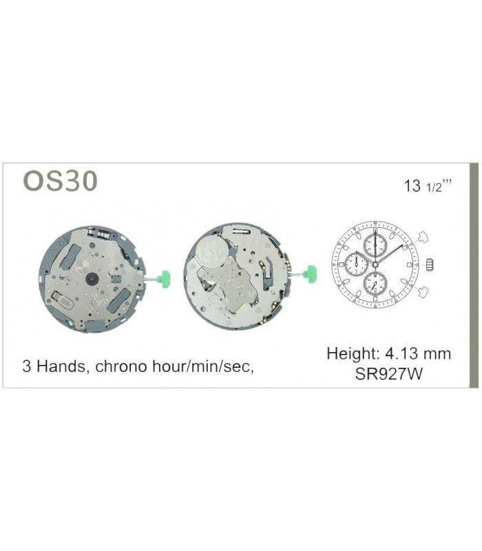 Máquinas ou movimentos para relógio, MIYOTA 0S30