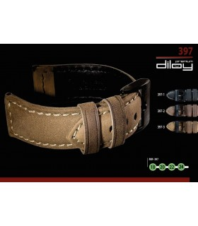 Leather watch strap, Diloy 397