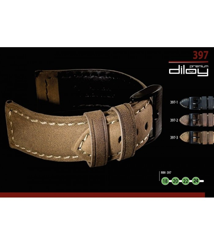 Lederarmbänder für Uhren, Diloy 397