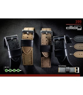 Leather watch strap, Diloy 399