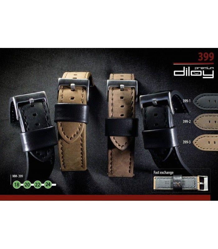 Bracelet pour montre en cuir, Diloy 399