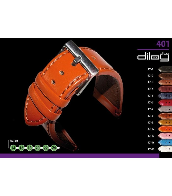 Lederarmbänder für Uhren, Diloy 401