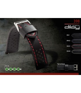 Leather watch strap, Diloy 398