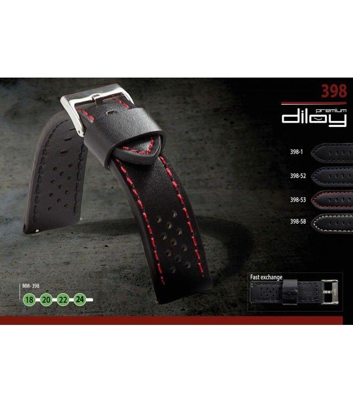 Bracelet pour montre en cuir, Diloy 398