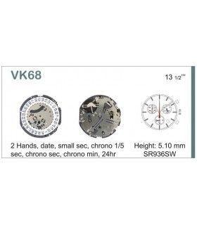 Maquina de relogio Ref SEIKO VK68