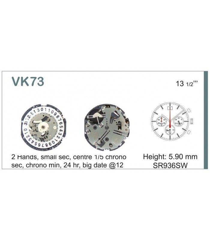 Máquinas ou movimentos para relógio, HATTORI VK73