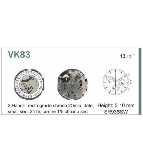 Maquinaria de reloj Ref SEIKO VK83