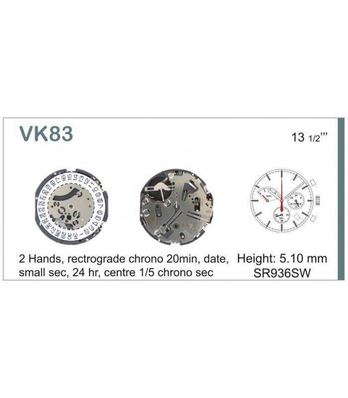 Máquinas ou movimentos para relógio, HATTORI VK83