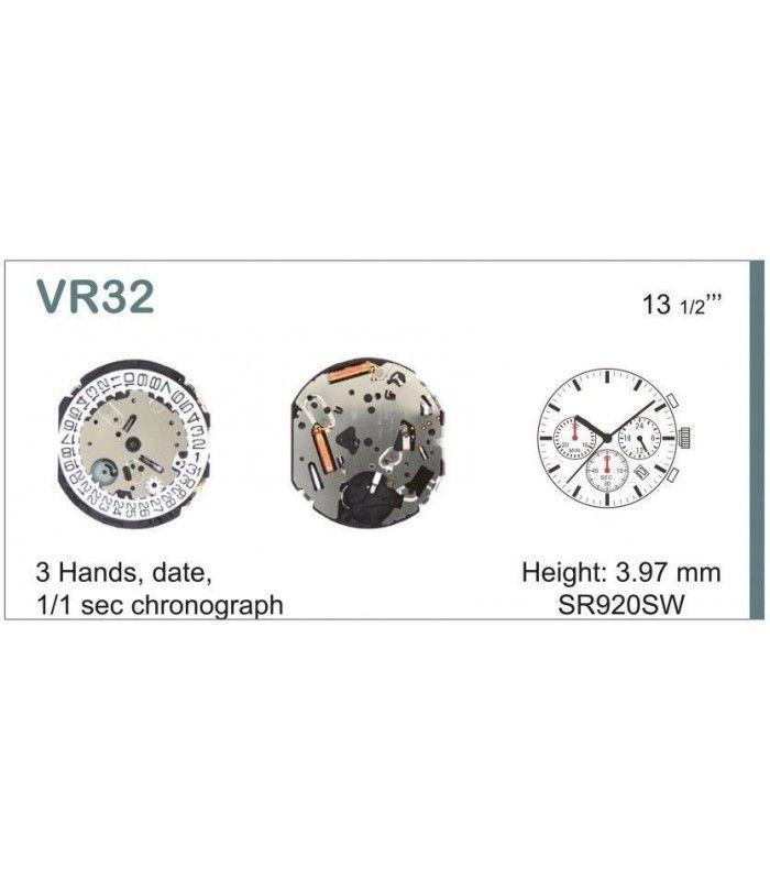 Máquina o movimiento para reloj VR32