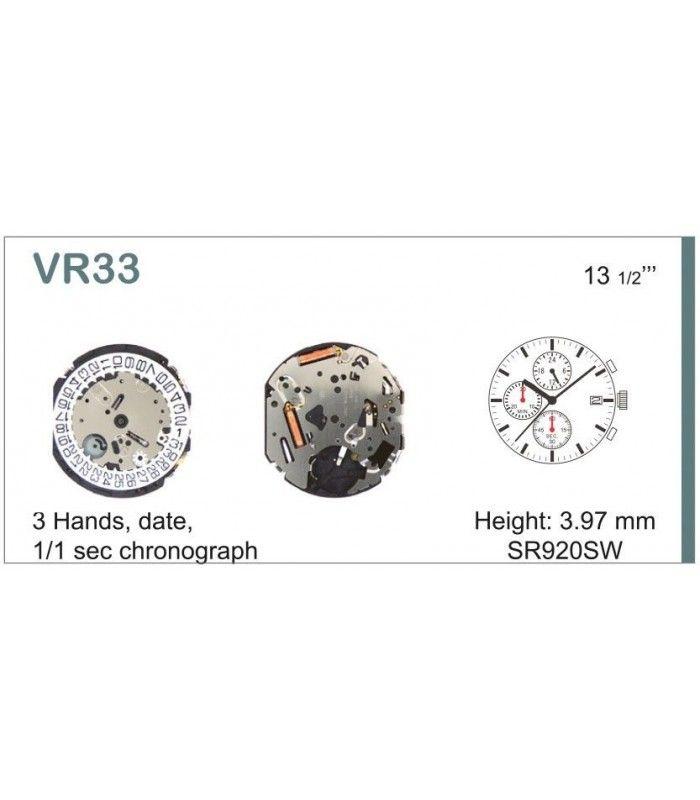 Máquina o movimiento para reloj VR33