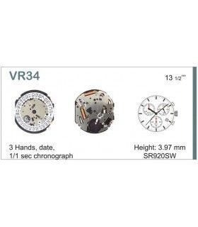 Maquinaria de reloj Ref SEIKO VR34