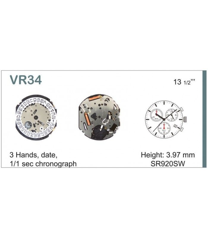 Máquina o movimiento para reloj VR34
