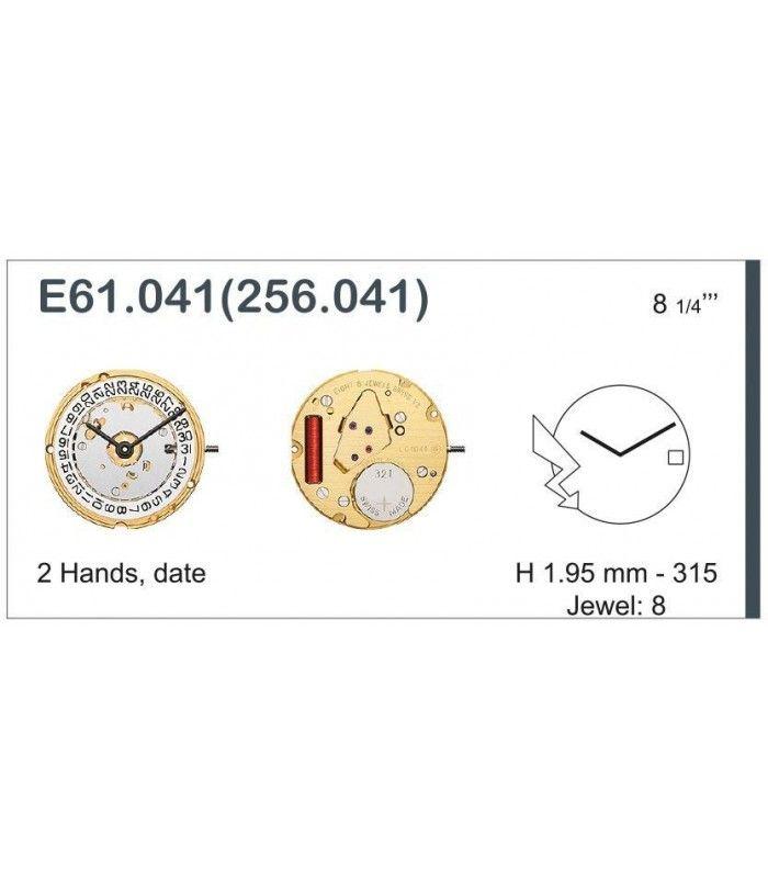 Máquinas ou movimentos para relógio, ETA E61.041