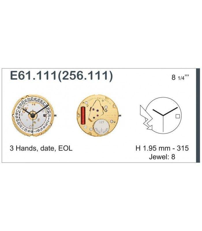 Máquina o movimiento para reloj ETA E61.111