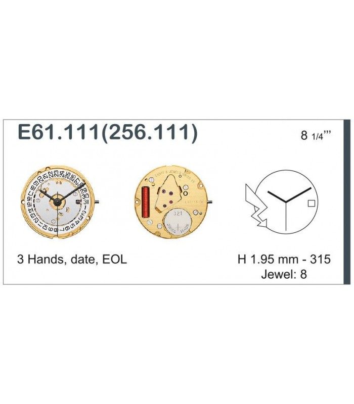 Uhrwerke, ETA E61.111