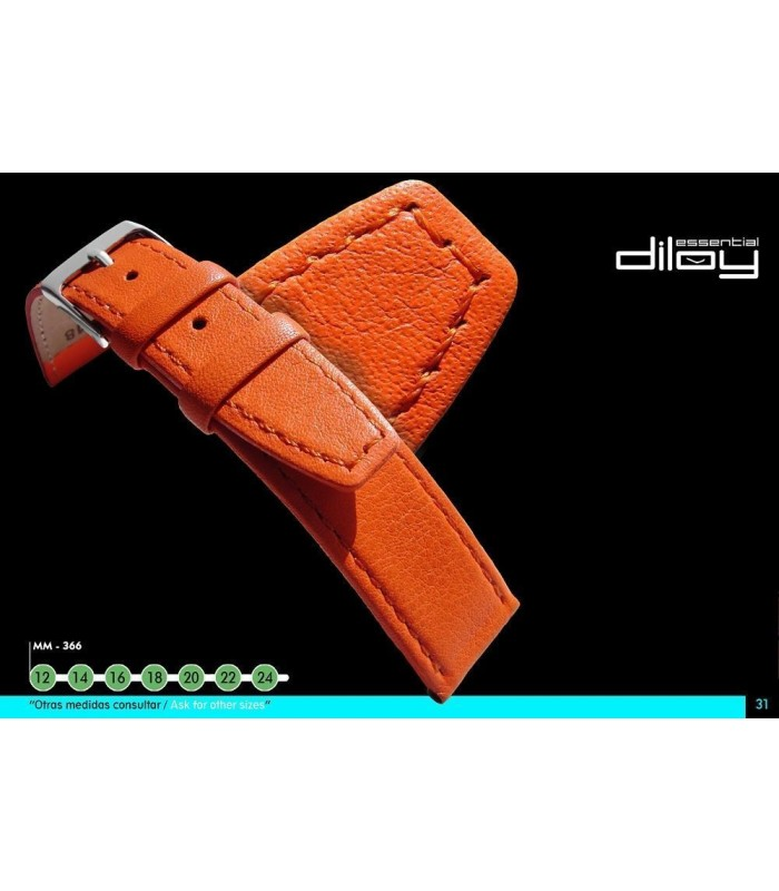 Leather watch strap, Diloy 766