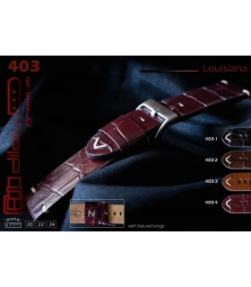 Leather watch strap, Diloy Louisiana