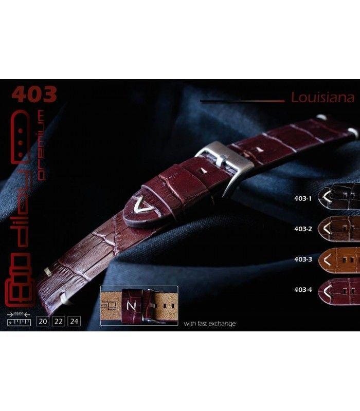 Bracelet pour montre en cuir, Diloy Louisiana