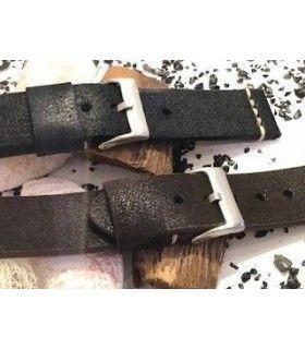 Pulseiras de relogio de couro Ref 406