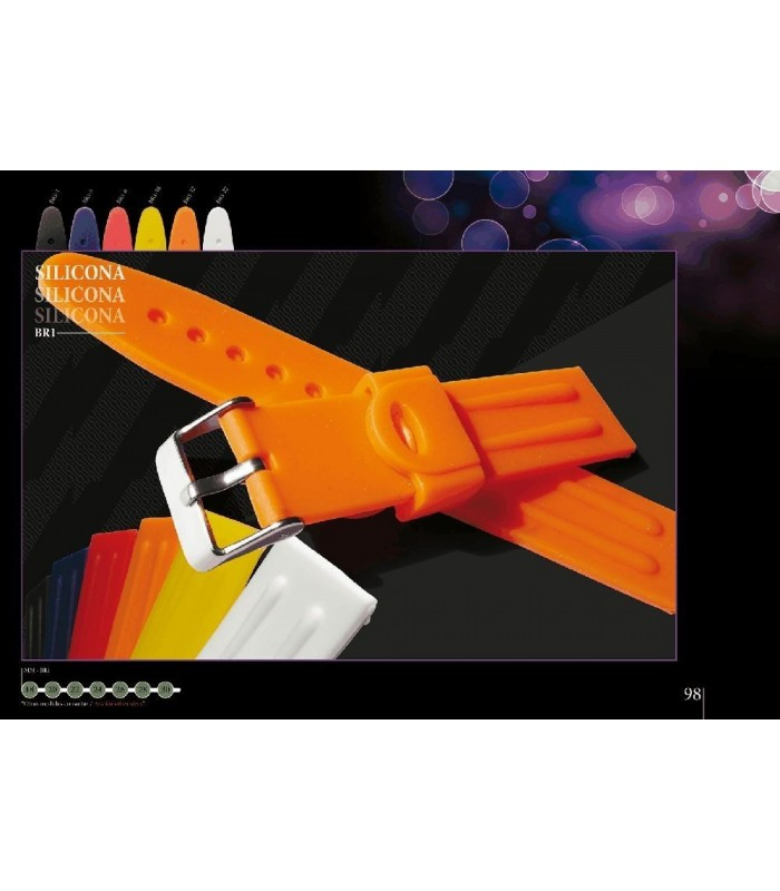 Silicone watch strap, Diloy BR01
