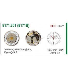 Máquinas ou movimentos para relógio, ISA 8171B
