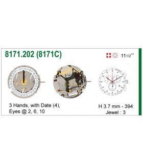 Máquinas ou movimentos para relógio, ISA 8171C