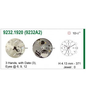 Movement for watches, ISA 9232A2