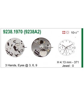 Movement for watches, ISA 9238A2