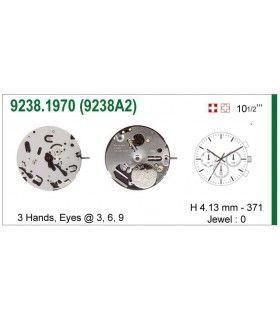 Máquinas ou movimentos para relógio, ISA 9238A2
