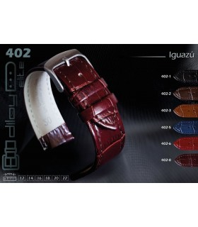 Leather watch strap, Diloy Iguazu