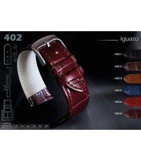 Leather watch strap, Diloy Iguazu