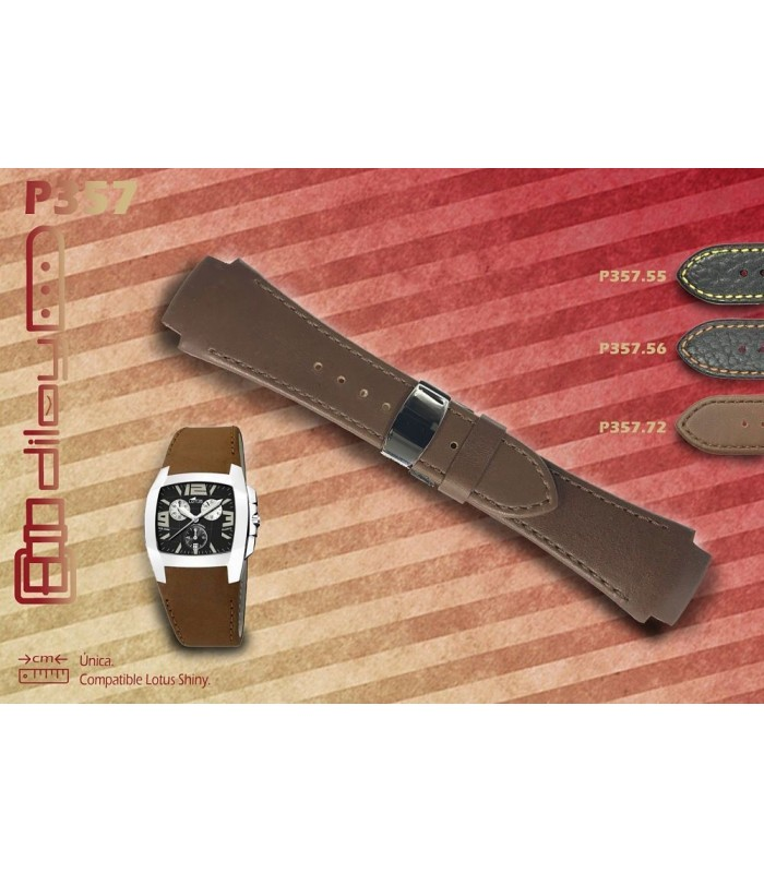 Correa de piel para reloj, Diloy P357