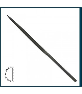 Half Round Needle file 160mm, cut 2 for jewelry, costume jewelery and crafts in general. Diloytools LI.C123