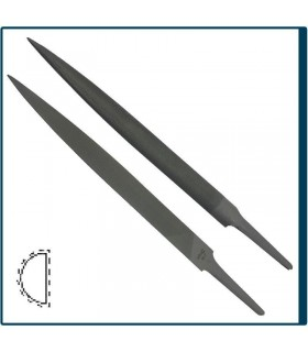 HALF ROUND PRECISION FILE 150mm, cut 2 for jewelry, costume jewelery and crafts in general. Diloytools LI.F106
