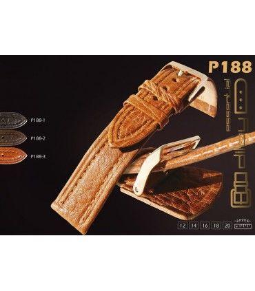 Correas de reloj de piel de bisonte. Ref. P188