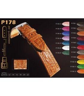 Lederarmbänder für Uhren Diloy P178