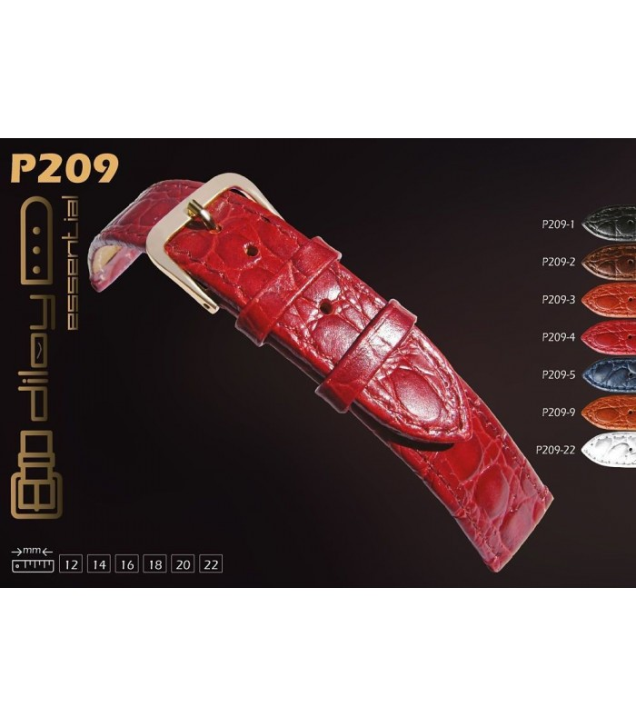 Leather watch straps Diloy P209