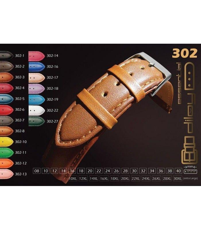 Bracelet pour montre en cuir, Diloy 302