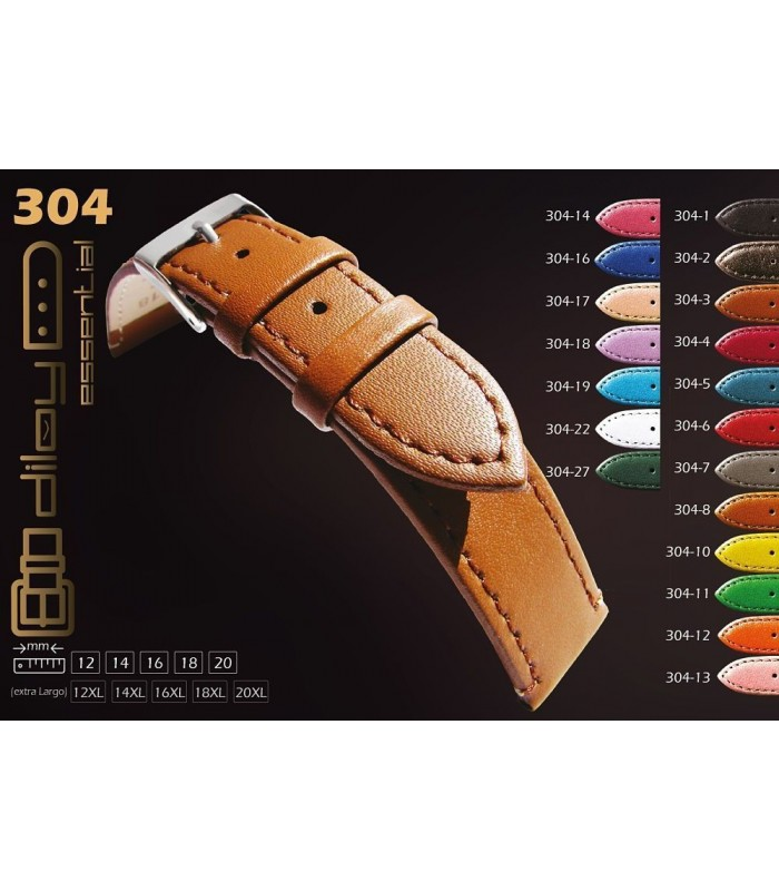 Leather watch straps Diloy 304