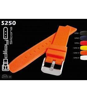 Correa de silicona para reloj, Diloy S250