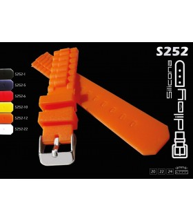 Silicone watch strap, Diloy S252