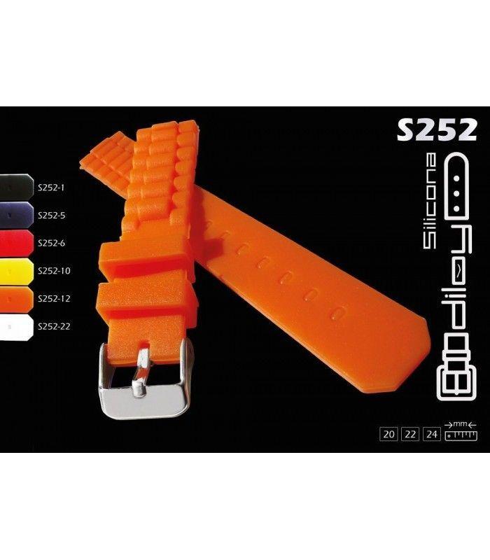 Cinturini per orologio in silicone Diloy S252