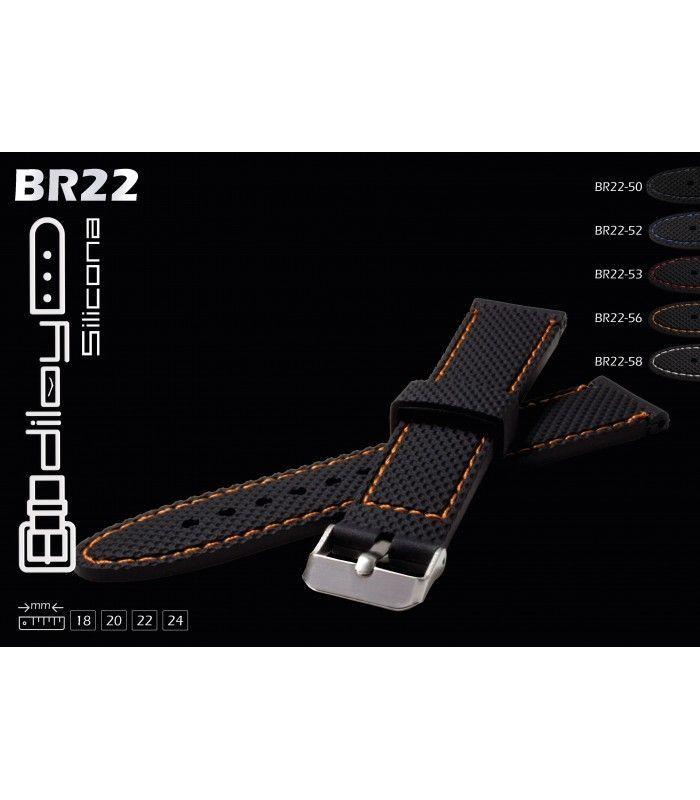 Cinturini per orologio in silicone Diloy BR22