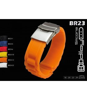 Silicone watch strap, Diloy BR23