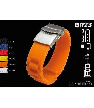 Bracelets pour montres en silicone Ref BR23
