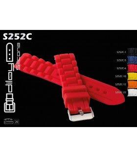 Correa de silicona para reloj, Diloy S252C