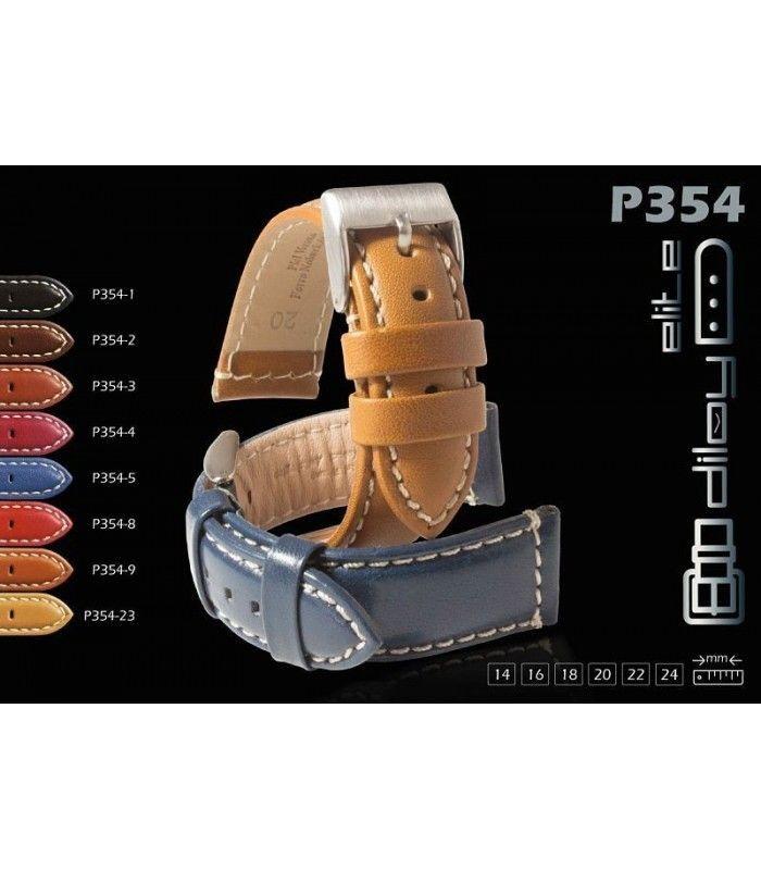 Bracelet pour montre en cuir, Diloy P354