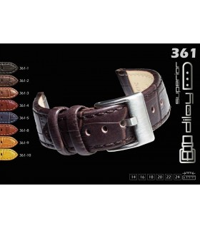 Leather watch strap, Diloy 361