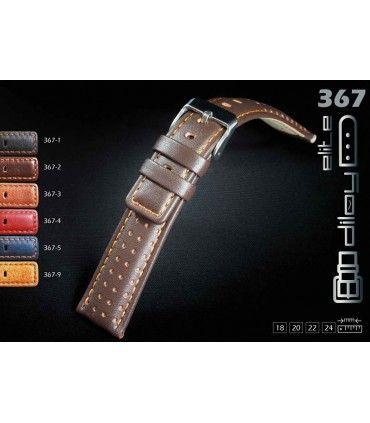 Correa de piel para reloj, Diloy 367